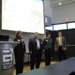 Left to right:  Colleen Theuerkauf, Mike Palazolla, Susan Virgin, Stott Matthews